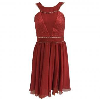 Festliches Chiffon-Kleid mit Stola Mädchen, rot 1374900