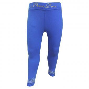 Mädchen Capri Legging mit Pailetten, blau - mf20031