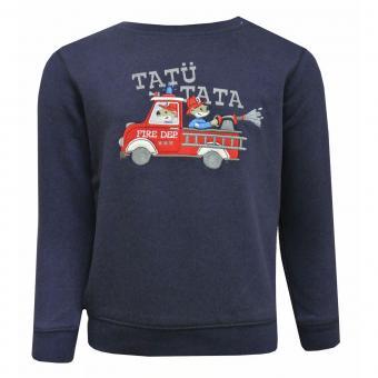 Baby Jungen Langarmshirt Shirt Sweater Feuerwehr, dunkelblau - 65211120