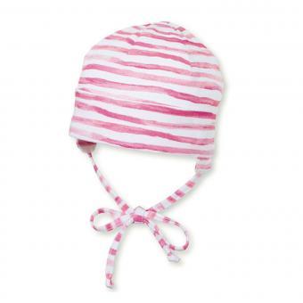 Mädchen Sommermütze Beanie zum Binden, UV-Schutz 50+, rosa - 1501901