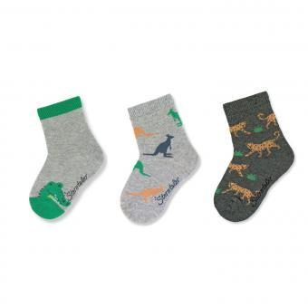 """Jungen Socken Dreierpack """"Tiere"""",hellgrau -8322120"""