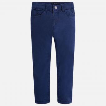 Jungen Stoffhose Thermohose Slim Fit, dunkelblau - 4535