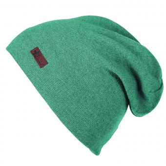 Jungen Mädchen Mütze Strickmütze Slouch-Beanie, eukalyptusgrün - 4521806