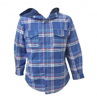 Holzfällerjacke Holzfällerhemd Sweatjacke Jungen, blau