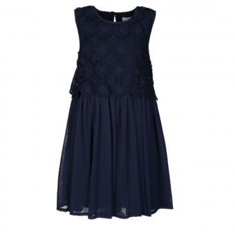 Eisend Festkleid für Kinder mit Strickmuster, dunkelblau - 584155