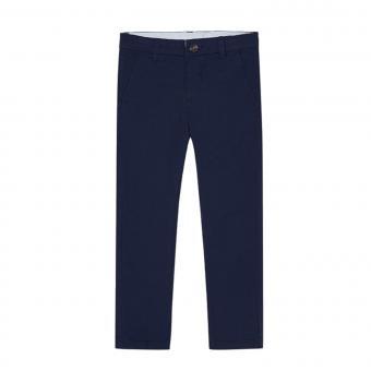 Jungen Hose lang slimfit Chinohose mit verstellbarem Bund, dunkelblau - 0512
