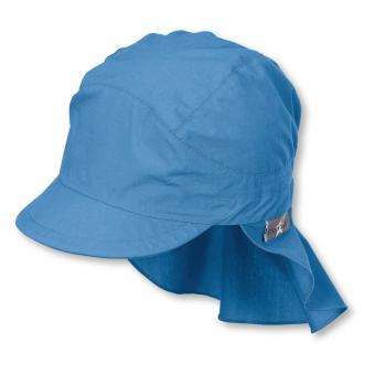 Jungen Schirmmütze mit Nackenschutz, Sommermütze, LSF 50+, blau - 1531430