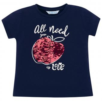 Mayoral Mädchen T-Shirt kurzarm mit Motiv, dunkelblau - 3.015db
