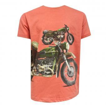 Jungen Kids T-Shirt Kurzarmshirt Motorrad, rot - 3025r