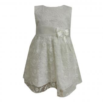 Baby Mädchen festliches Kleid mit Spitze, creme