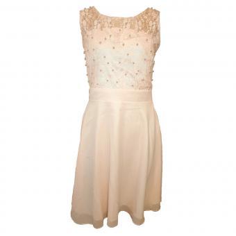 Eisend Festkleid mit Spitzenstickerei und Perlentop rosa - 584509ro
