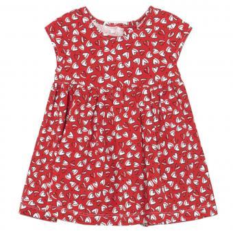 """Mädchen Baby Kleid Sommerkleid gemustert """"Herzen"""", rot/weiß - 1995"""