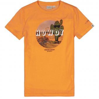 "Jungen T-Shirt Sommershirt kurzarm ""Kaktus Wüste"" , orange - C15403_boys T-shirt"
