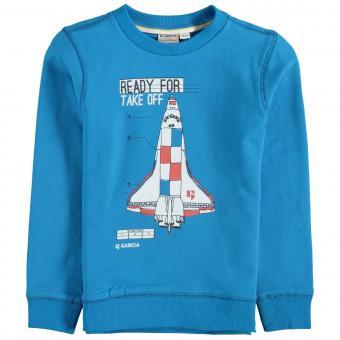Jungen Sweatshirt- Langarmshirt- Sweater Rakete, blau - T05660