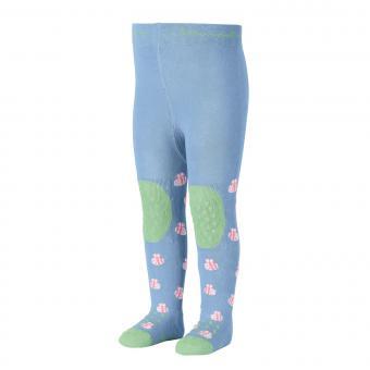 """Mädchen Baby Strumpfhose mit ABS-Noppen Krabbelstrumpfhose mit Po-Motiv """"Biene"""", himmelblau – 8652006"""
