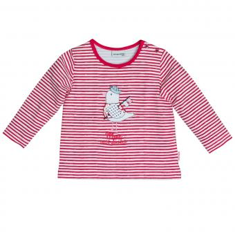 Salt&Pepper Mädchen Shirt gestreift langarm mit Möven-Motiv, rot – 93211230