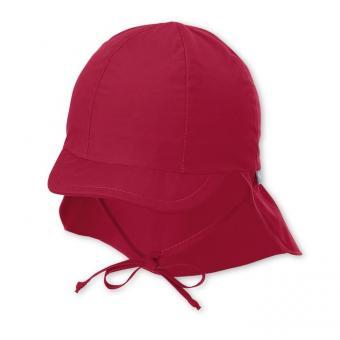 Jungen Mädchen Kinder Schirmmütze zum Binden LSF UV-Schutz 50+ Sommermütze Schildmütze mit Nackenschutz rot - 1511410-rot