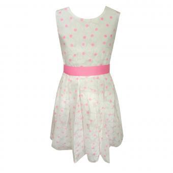 Mädchen festliches Kleid Abendkleid gepunktet, rosa - 971343