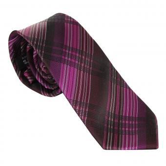 Jungen Schlips Krawatte zum binden gestreift, pink - 9963500-71