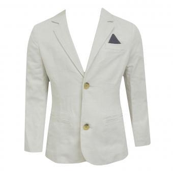 Jungen Blazer festliche Jacke Anzugsjacke, beige - 3417