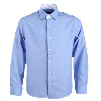 Jungen festliches Hemd slim, langarm, hellblau - 5549200b