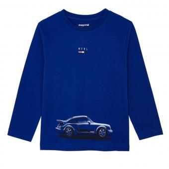 """Jungen T-shirt Langarmshirt mit Rundkragen""""schickes Auto"""", blau - 4.046b"""