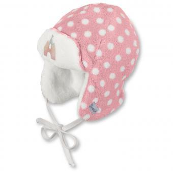 Baby Mädchen Mütze Fliegermütze zum binden, Punkte, von Sterntaler, rosa - 4401722