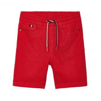 Jungen Bermuda kurze Stoffhose mit Band, rot - 3238