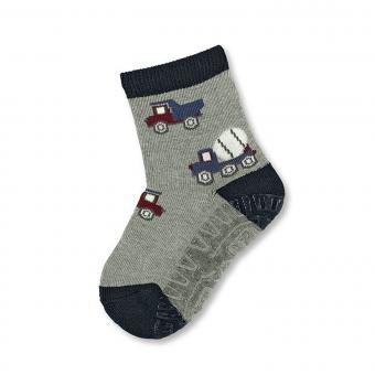Jungen Fliesenflitzer Socken, LKW, grau - 8131804-silbe