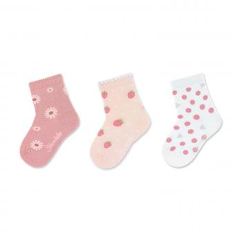 "Mädchen Socken Dreierpack ""Sommermotive"" ,rosa -8322125"