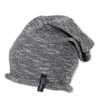 Mütze Jungen Beanie zweifarbig gemustert Strickmütze, Grau