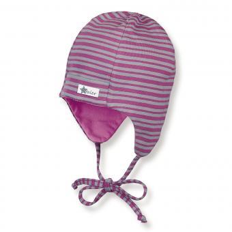 Mädchen Mütze zum binden mit  Ohrenschutz von Sterntaler, pink - 4501740p