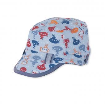 Baby Cap Schildmütze Jungen Basecap U-Boot-Motiv, blau
