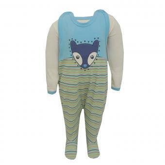 Baby Strampler-Set mit Body Jungen, blau