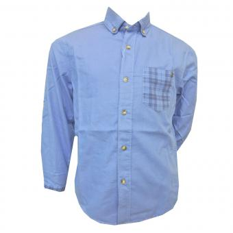 Langarmhemd Jungen, blau