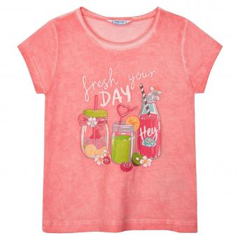 "Mädchen T-Shirt kurzarm ""refresh your Day"" , pink -3015p"