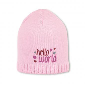 Mädchen Mütze, Strickmütze, rosa Schriftzug - 1701900