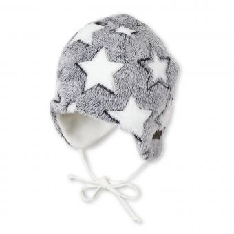 """Baby Mädchen Jungen Mütze Inka-Mütze gefüttert Wintermütze zum Binden """"Sterne"""", marineblau - 4511900"""