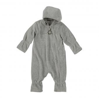 Baby Overall Jungen Fleece mit Reißverschluss Hand- und Fußstulpen, silber mel. - 5501800-silbe