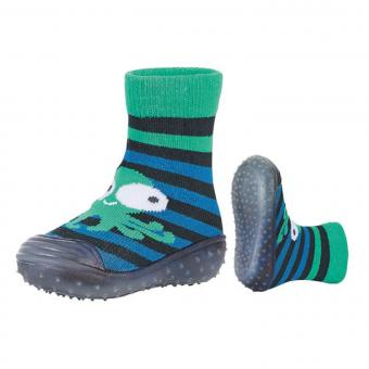 Jungen Anti-Rutsch-Socken Adventure Socks, marineblau mit Oktopus - 8361901