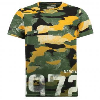 """Jungen T-Shirt Garcia, """"1972"""", grün gelb - B93607"""