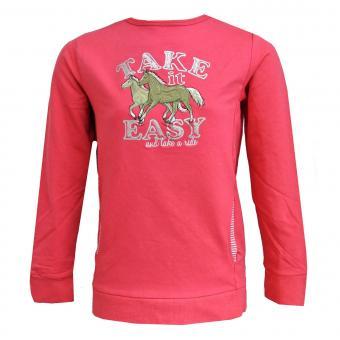 Mädchen Sweatshirt gefüttert Pferde, pink - 75111251