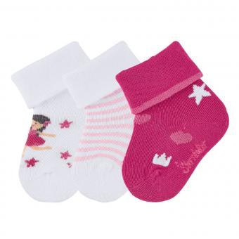 "Baby Mädchen Söckchen 3er-Pack Erstlingssocken, weiß pink ""Fee"" - 8411951"
