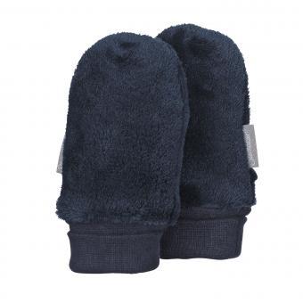 Baby Jungen Faust Handschuhe ohne Finger Plüsch, marine - 4301401