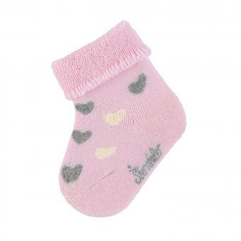 "Baby Mädchen Babysöckchen Erstlingssöckchen Plüsch Socken ""Herzen"", rosa - 8301901"