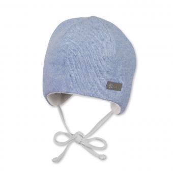 Baby Jungen Mütze gefüttert Erstlingsmütze Wintermütze zum Binden, hellblau - 4501847