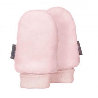 Baby Mädchen Faust Handschuhe ohne Finger Plüsch, zartrosa - 4301401
