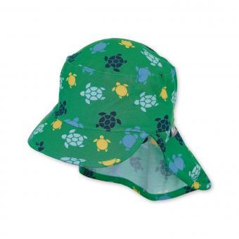 """Jungen Kinder Baby Mütze LSF UV-Schutz 50+ Sommermütze Schirmmütze Schildmütze mit Nackenschutz """"Schildkröten"""", grün – 1612043"""