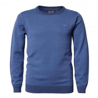 Jungen Pullover Jersey Strickpullover Langarmshirt, blau - B-PS19-KWR280