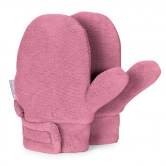 Mädchen Fäustlinge Handschuhe gefüttert Microfleece mit Klettverschluss einfarbig, helllila - 4301420